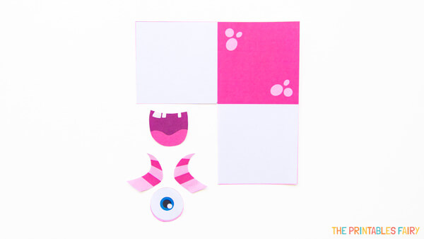 Print and cut pink monster template