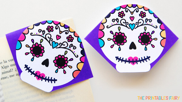 Sugar Skull Corner Bookmarks