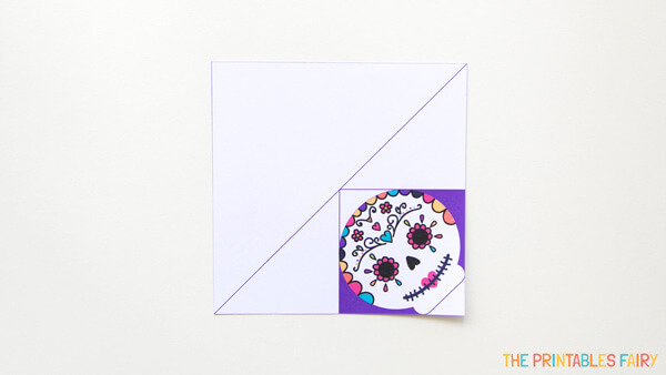 Print and cut the sugar skull bookmark template