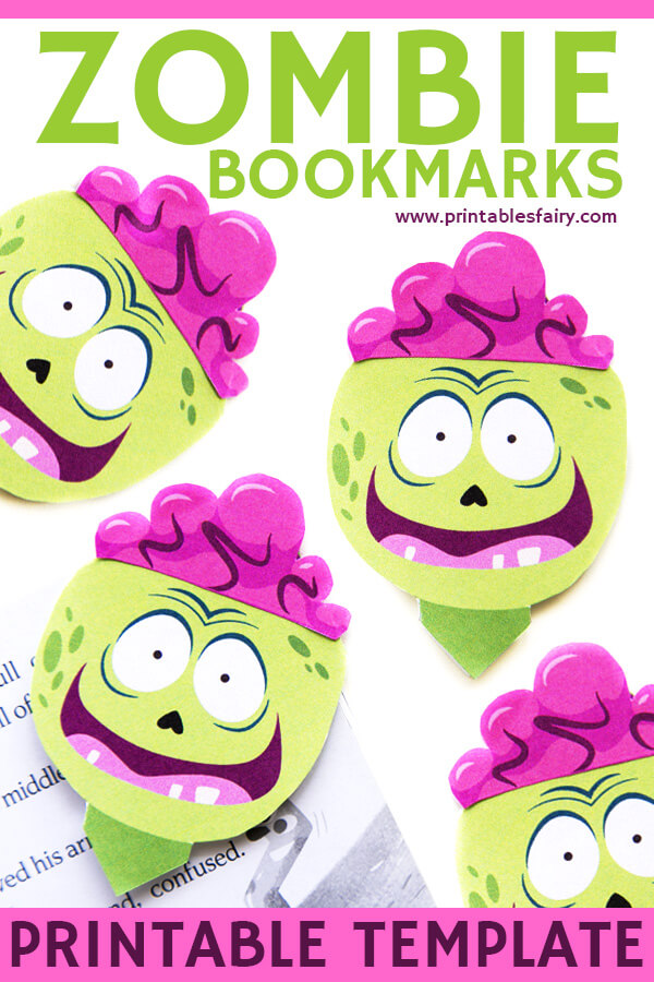Zombie Bookmarks Printable Template