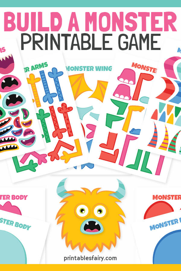 Build a Monster Printable Game