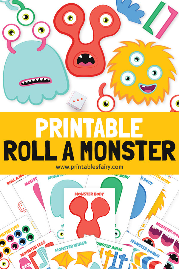 Roll a Monster Printable