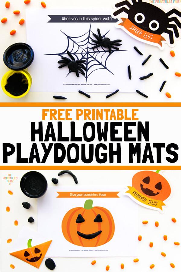 Free Printable Halloween Playdough Mats