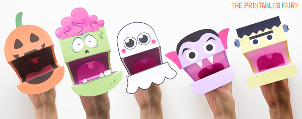 Printable Halloween Hand Puppets