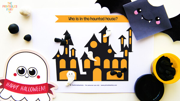 Haunted House Playdough Mats