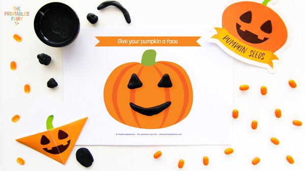 Pumpkin Playdough Mats