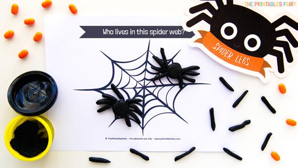 Spider Playdough Mats