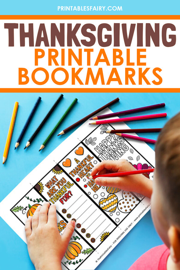 Printable Thanksgiving bookmarks