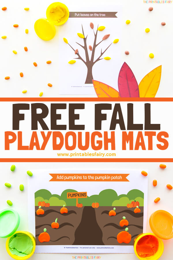 Free Fall Playdough Mats