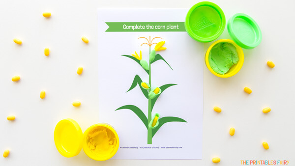Corn Plant Playdough Mat