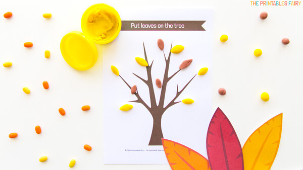 Fall Tree Playdough Mat
