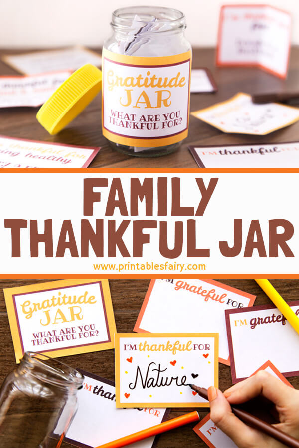 Printable Diy Gratitude Jar The Printables Fairy