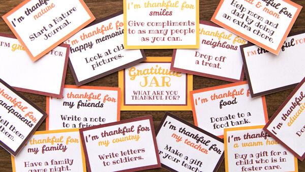 Thankful Jar Printables