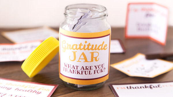 Printable Diy Gratitude Jar The Printables Fairy