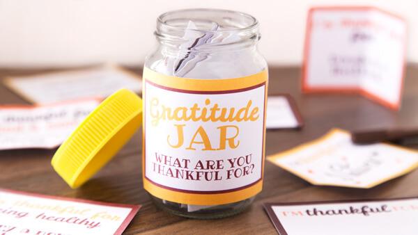 Printable Gratitude Jar