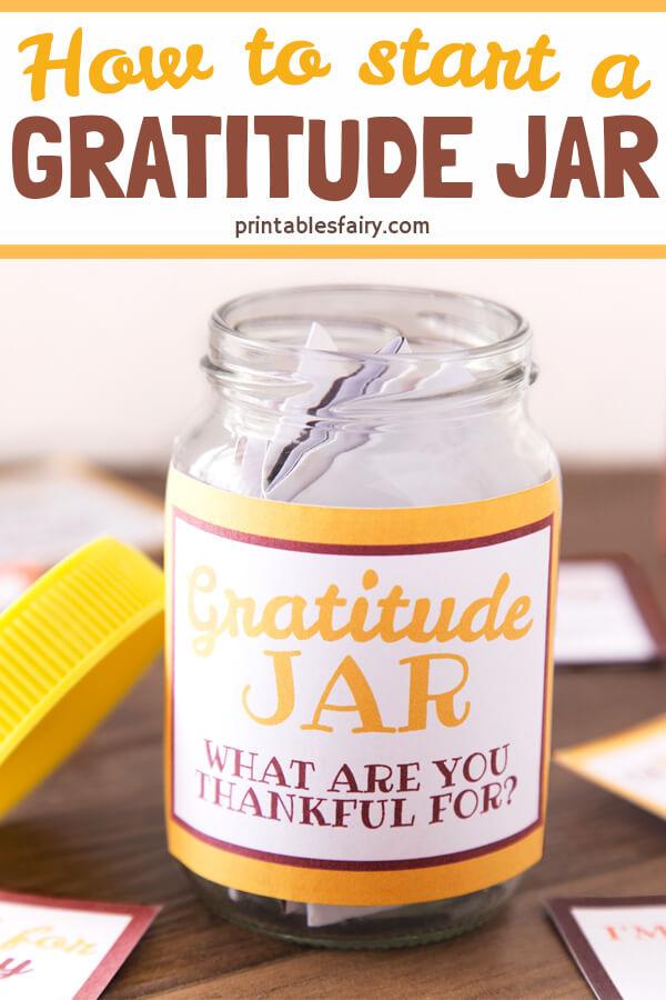 How to start a Gratitude Jar