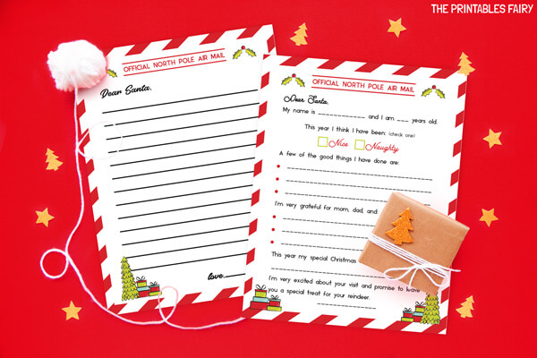 Printable Letters to Santa