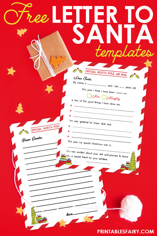 Free Letter to Santa Templates