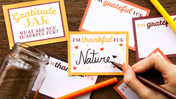 Writing down on thankful note