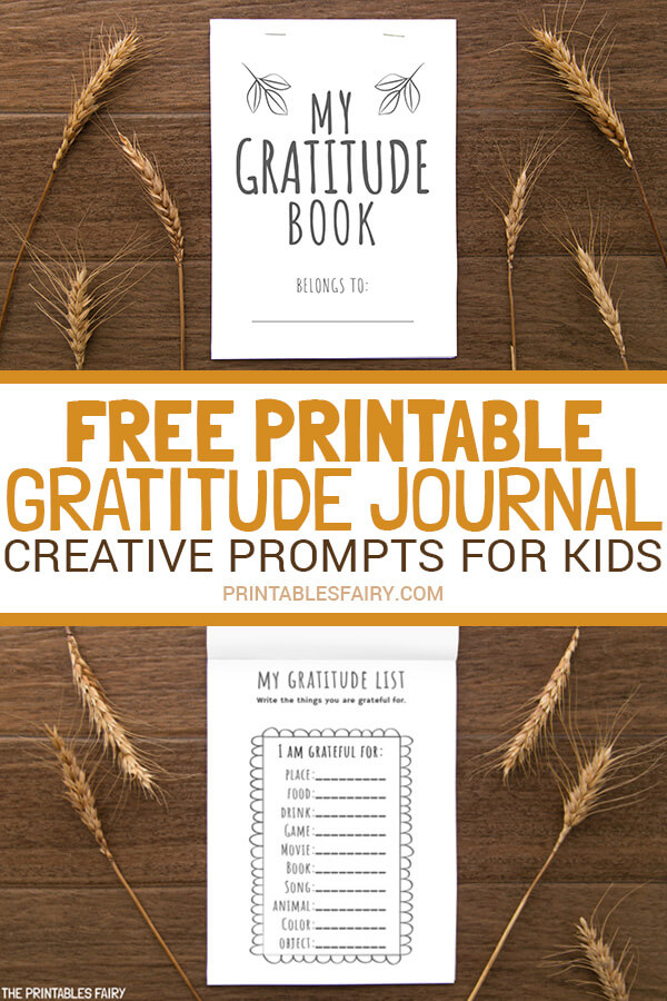 Gratitude Journal Printable Template