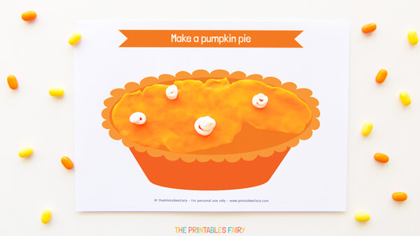 Pumpkin Pie Playdough Mat