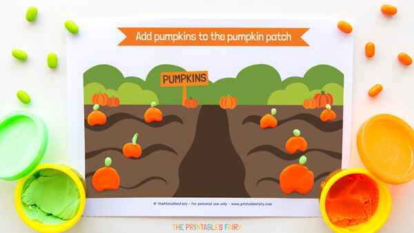 Pumpkin Patch Playdough Mat