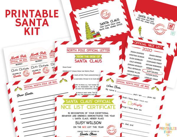 Printable Santa Kit