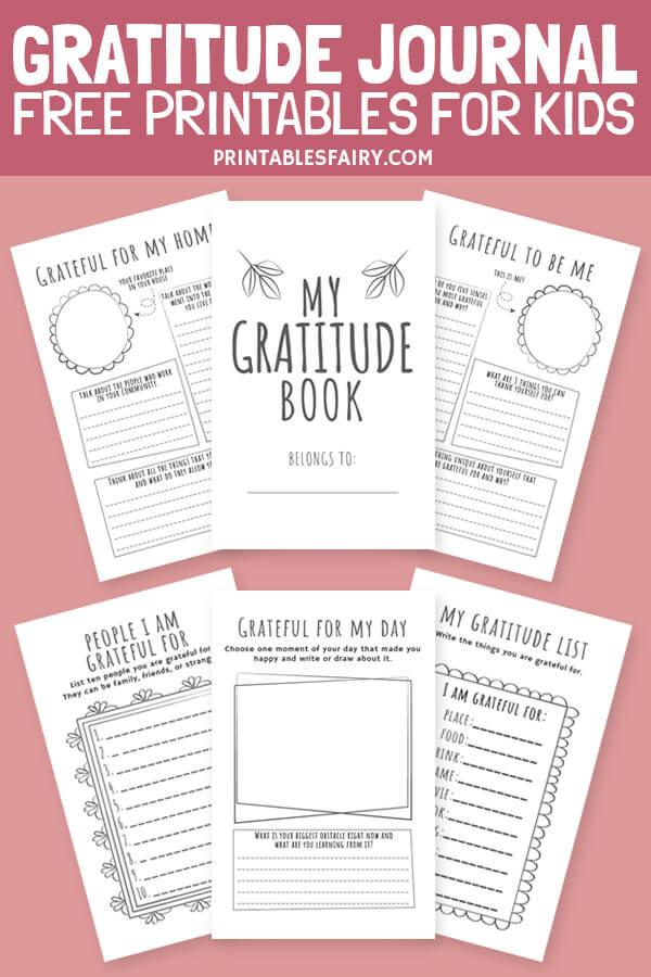Gratitude Journal Printables for Kids