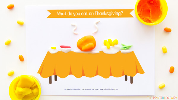 Thanksgiving Meal Playdough Mat