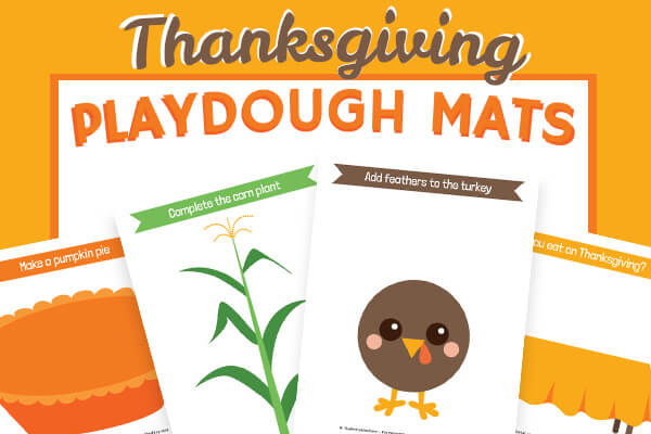 Free Printable Thanksgiving Playdough Mats