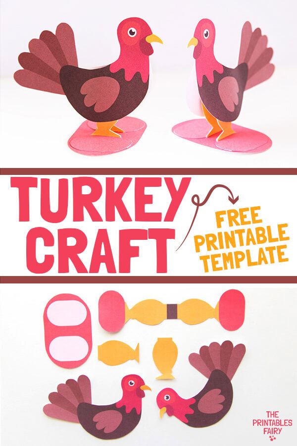 3D Turkey Craft with Template