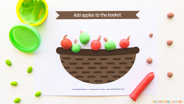 Apples Basket Playdough Mat