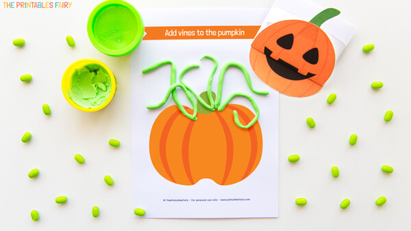 Pumpkin Vines Playdough Mat