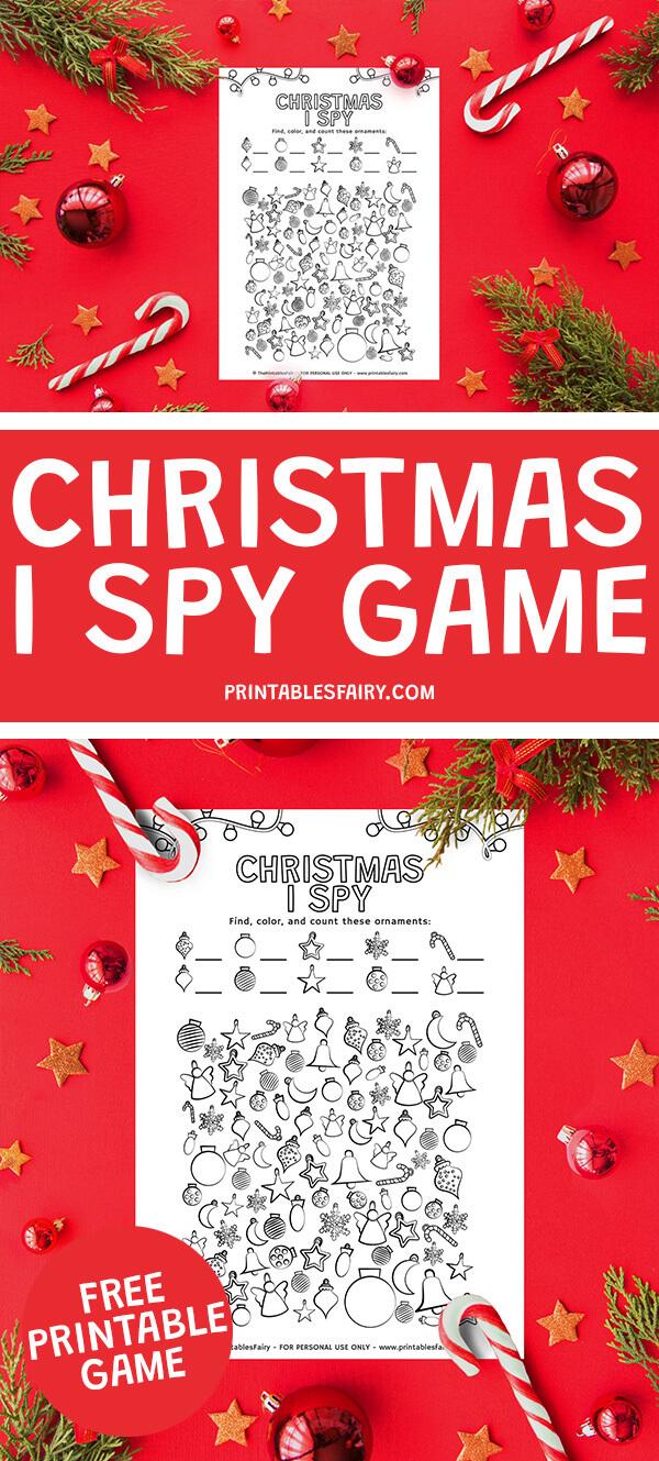 Printable Christmas I Spy Game
