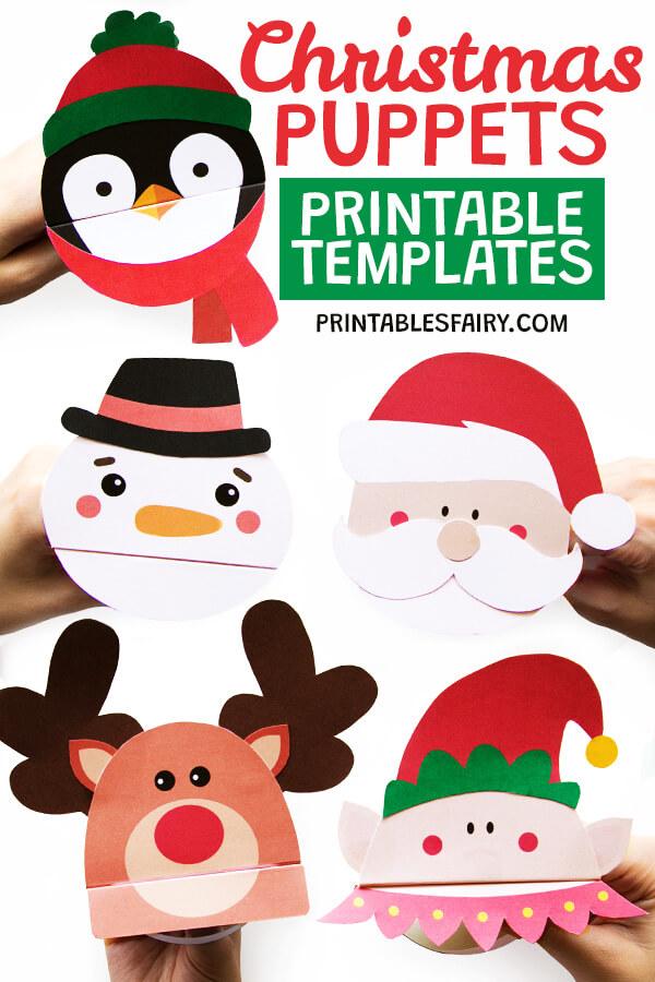 Printable Christmas Puppets