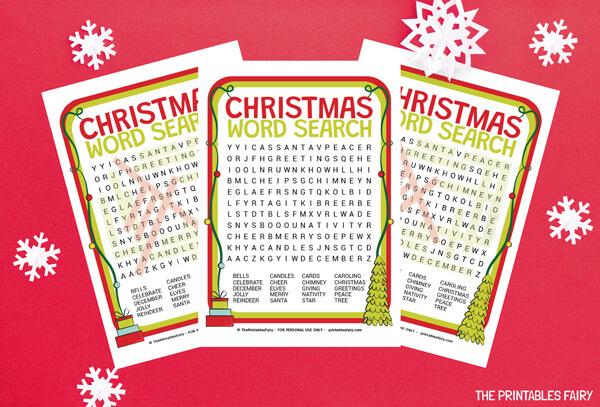 Christmas Word Search Free Printable The Printables Fairy