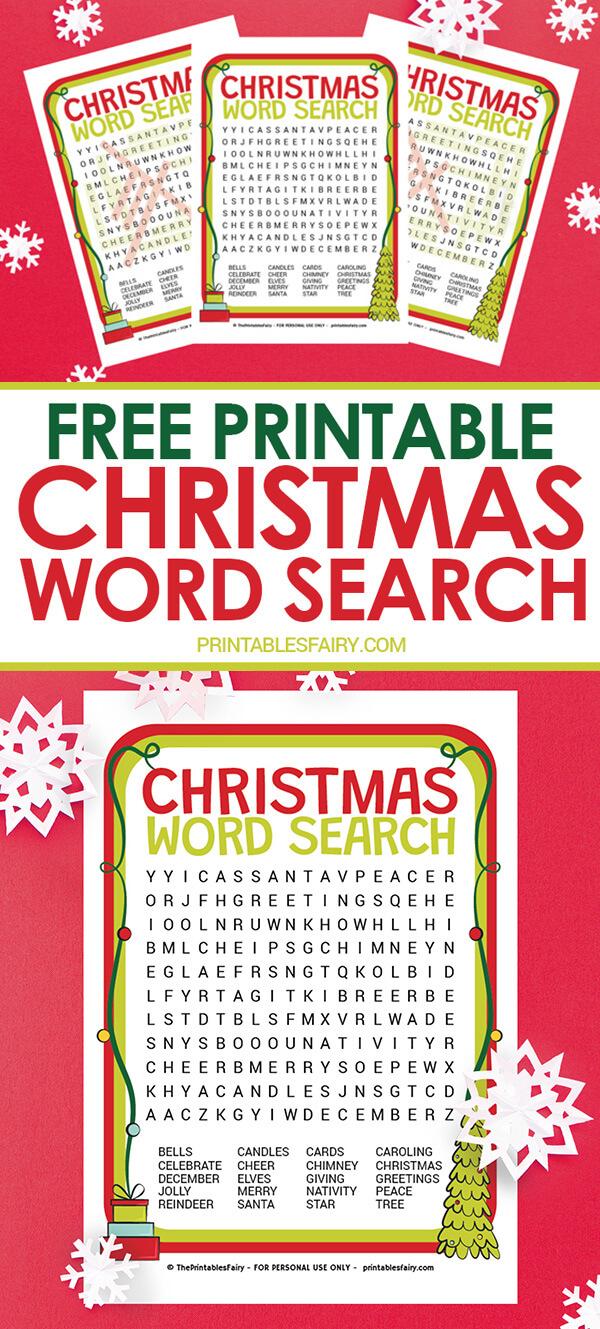 Free Printable Christmas Word Search