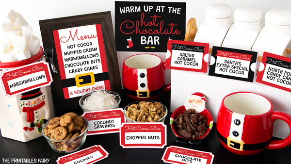 Free Printable Hot Cocoa Bar