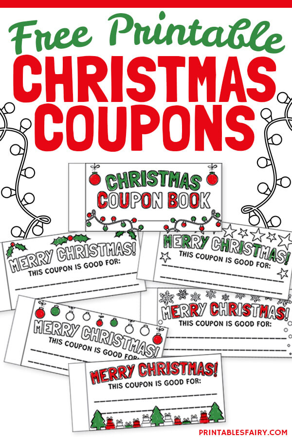 Free Printable Christmas Coupon Book