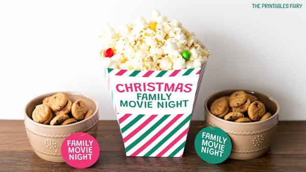 Popcorn box and Treat tags