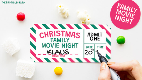 Christmas Movie Tickets