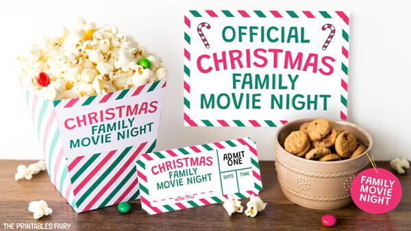 Christmas Movie Night Sign