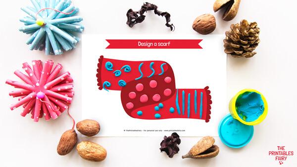 Design a scarf Playdough Mat