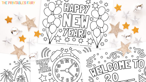 New Year's Eve Coloring Pages