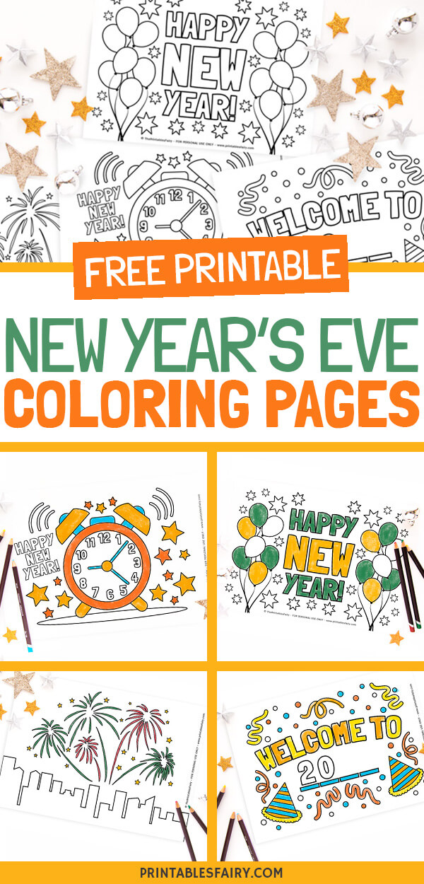 Free Printable New Year's Eve Coloring Pages