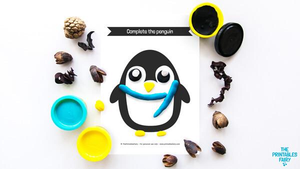 Penguin Playdough Mat