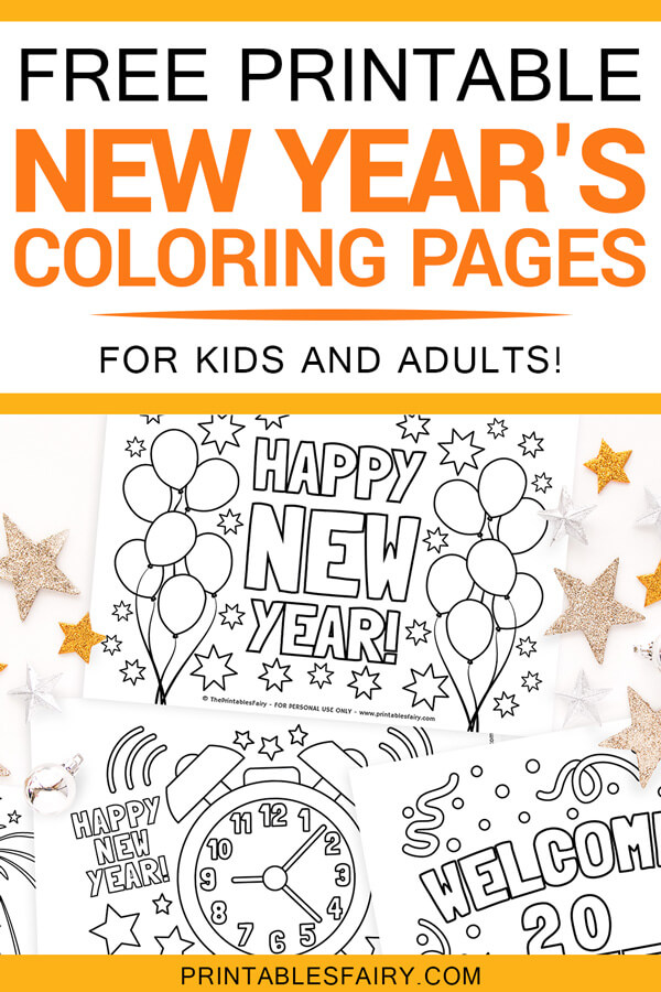 Free Printable New Year's Coloring Pages