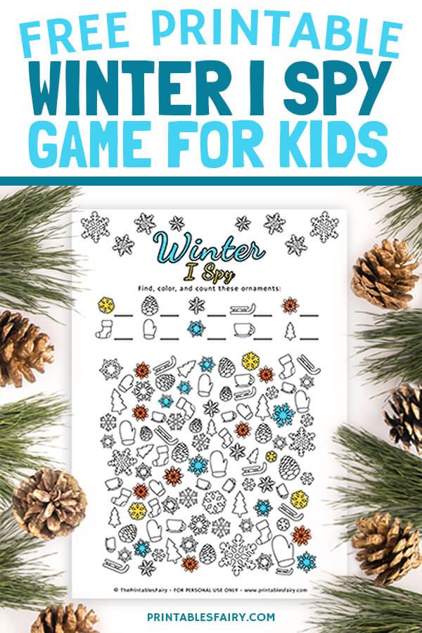 Printable I Spy Winter Game for Kids