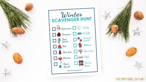 Free Printable Winter Scavenger Hunt