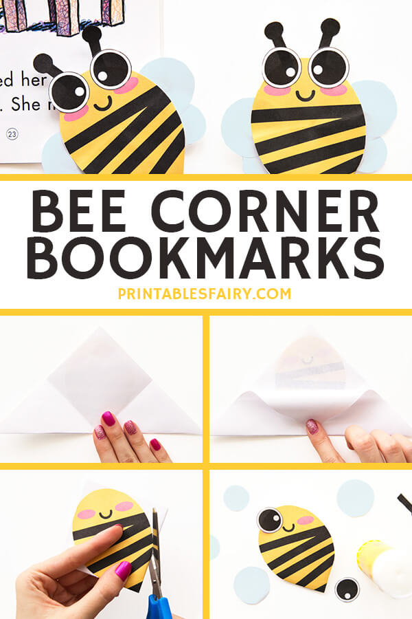 Bee Bookmarks Paper Craft